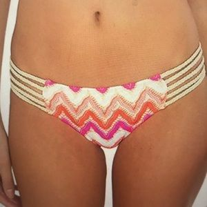 Women's flamingo beach braided side full bikini